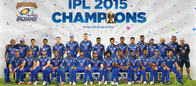 Mumbai Indians – The Champions of IPL 2015