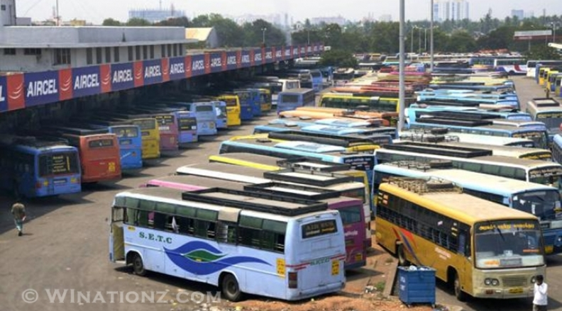 Bus And Few Other Services Stopped in TN