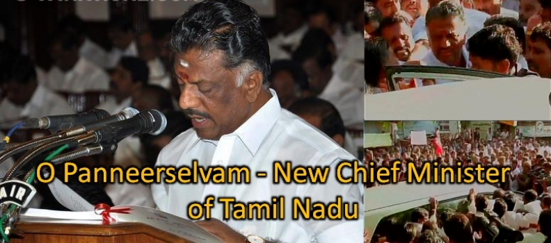 O Panneerselvam – New Chief Minister of Tamil Nadu