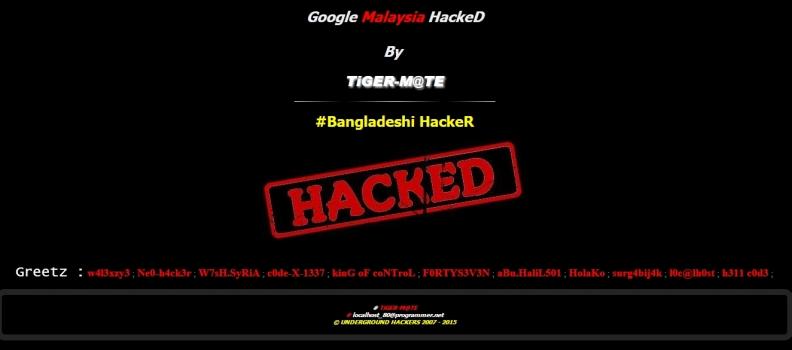 Tiger-M@te a Bangladeshi hacker, takes down Google