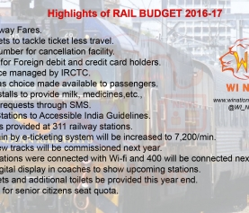 Highlights of Railway Budget 2016 – 17
