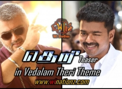 Vijay's Theri Teaser in Ajith's Vedalam Theri Theme